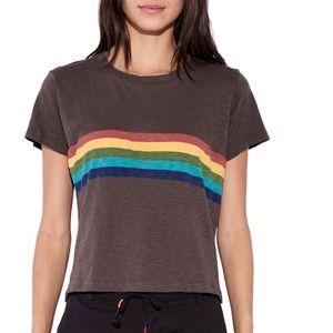 Sundry rainbow stripe tee